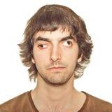 Hombre joven bizco Imagenes de archivo