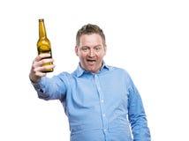 Hombre joven borracho foto de archivo libre de regalías