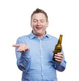 Hombre joven borracho Imagenes de archivo