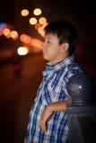 Hombre joven chino solo Imagen de archivo libre de regalías