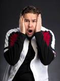 Hombre joven chocado Imagen de archivo