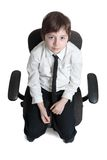 Hombre joven como persona nerviosa Foto de archivo