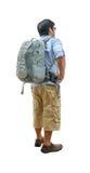 Hombre joven con caminar de la mochila Fotografía de archivo libre de regalías