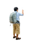Hombre joven con caminar de la mochila Imagen de archivo