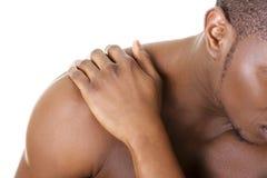 Hombre joven con dolor de espalda fotografía de archivo libre de regalías