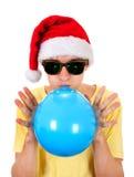 Hombre joven con el globo Foto de archivo libre de regalías