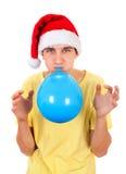 Hombre joven con el globo Fotografía de archivo