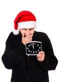 Hombre joven con el reloj Imagen de archivo libre de regalías