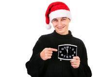 Hombre joven con el reloj Fotos de archivo libres de regalías