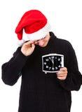 Hombre joven con el reloj Foto de archivo libre de regalías