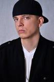 Hombre joven con el sombrero Foto de archivo libre de regalías