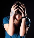 Hombre joven con el tatuaje Imágenes de archivo libres de regalías