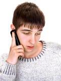 Hombre joven con el teléfono Foto de archivo