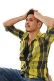 Hombre joven con la ambición Fotografía de archivo