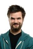 Hombre joven con la barba Imágenes de archivo libres de regalías
