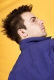 Hombre joven con la camisa azul Imagen de archivo libre de regalías
