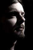 Hombre joven con la perilla, oscura Imagen de archivo libre de regalías