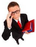 Hombre joven con las carpetas Imágenes de archivo libres de regalías