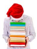 Hombre joven con libros Imagen de archivo