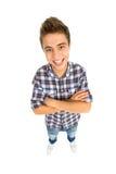 Hombre joven con los brazos plegables Imagen de archivo