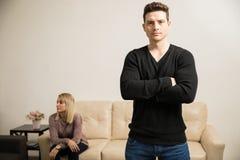 Hombre joven con problemas de la relación Fotografía de archivo libre de regalías