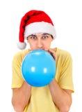 Hombre joven con un globo Foto de archivo libre de regalías