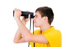 Hombre joven con un monóculo Fotografía de archivo libre de regalías