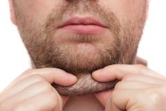 Hombre joven con una barbilla doble Fotos de archivo libres de regalías