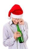 Hombre joven con una cerveza Fotografía de archivo libre de regalías