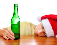 Hombre joven con una cerveza Imagen de archivo libre de regalías