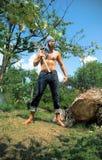 Hombre joven con una espada Foto de archivo libre de regalías