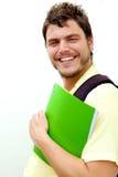 Hombre joven con una mochila Imágenes de archivo libres de regalías