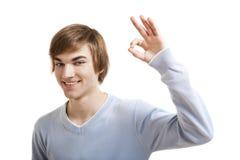 Hombre joven confiado Fotos de archivo