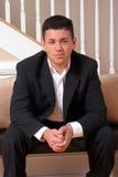 Hombre joven confidente Foto de archivo libre de regalías