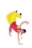 Hombre joven de baile Fotografía de archivo libre de regalías