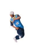 Hombre joven de Hip-hop que hace movimiento fresco Imagenes de archivo