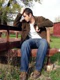 Hombre joven de pensamiento Foto de archivo libre de regalías