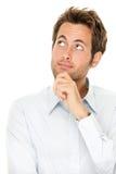 Hombre joven de pensamiento Imagen de archivo libre de regalías