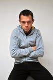 Hombre joven decepcionado triste Fotos de archivo
