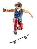 Hombre joven del adolescente del skater aislado Fotografía de archivo