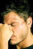 Hombre joven deprimido infeliz Imágenes de archivo libres de regalías