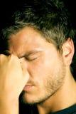 Hombre joven deprimido infeliz Imagen de archivo libre de regalías