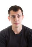 Hombre joven desconcertado Fotografía de archivo libre de regalías