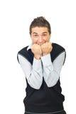 Hombre joven desesperado Foto de archivo libre de regalías