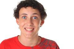 Hombre joven divertido Imagen de archivo libre de regalías