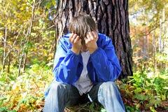 Hombre joven doloroso Foto de archivo libre de regalías