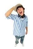 Hombre joven emocionado imagen de archivo