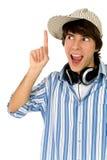 Hombre joven emocionado imágenes de archivo libres de regalías