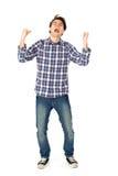 Hombre joven emocionado Foto de archivo libre de regalías