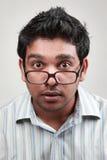 Hombre joven emocionado Foto de archivo